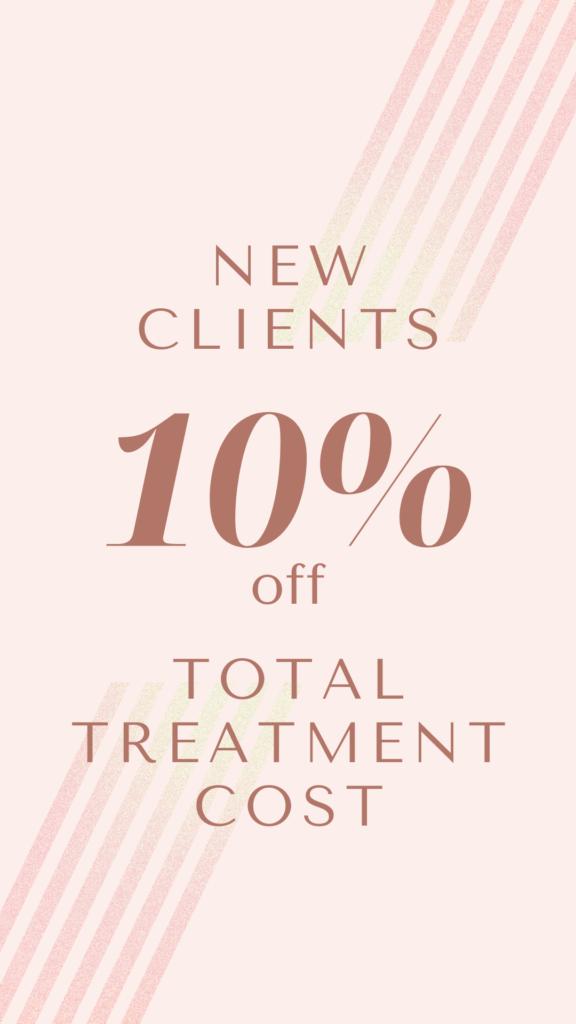 10% off treatment